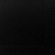 BLACK COCKTAIL NAPKIN 24CM 2PLY