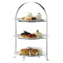 3 TIER CHROME CAKE STAND