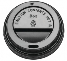 8OZ DOMED SIP THRU LID BLACK X1000  A10012