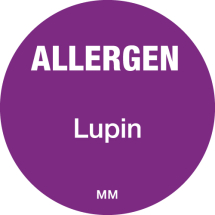 DAYMARK ALLERGEN LUPIN LABEL 25MM CIRCULAR