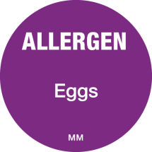 DAYMARK ALLERGEN EGGS LABEL 25MM CIRCULAR