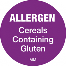 DAYMARK ALLERGEN CEREALS WITH GLUTEN 25MM CIRCULAR