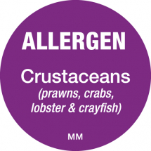 DAYMARK ALLERGEN CRUSTACEANS LABEL 25MM CIRCULAR