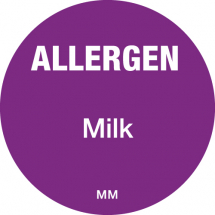 DAYMARK ALLERGEN MILK LABEL 25MM CIRCULAR