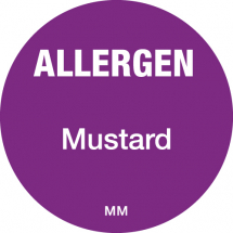 DAYMARK ALLERGEN MUSTARD LABEL 25MM CIRCULAR
