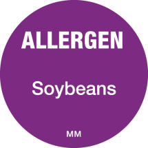 DAYMARK ALLERGEN SOYBEANS LABEL 25MM CIRCULAR
