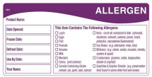 DAYMARK ALLERGEN FOOD STORAGE LABELS 50 X 76MM