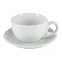 ATHENA HOTELWARE 8OZ CAPPUCINO CUP AND SAUCER X48 S448