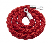 RED TWIST BARRIER ROPE 1.5MTR LENGTH