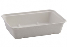 BAGASSE 500ML TRAY NATURAL CREAM 119 X 173 X 45MM