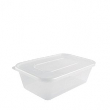 HEAVY DUTY MICROWAVE CONTAINER & LID 500CC