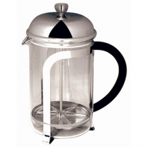 CAFETIERE CHROME FINISH PYREX BEAKER 6 CUP 800ML