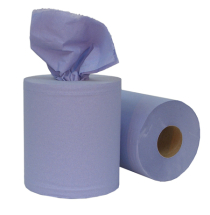 CORELESS BLUE CENTREFEED ROLL 120M 2PLY