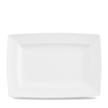 CHURCHILL ALCHEMY FINE CHINA WHITE ENERGY BUFFT RECT PLATE 23X13.5CM