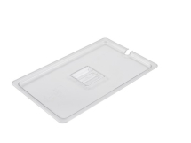 POLYCARBONATE GASTRONORM PAN CLEAR NOTCHED LID 1/1