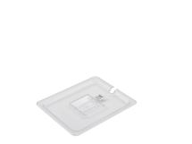 POLYCARBONATE GASTRONORM PAN CLEAR NOTCHED LID 1/2