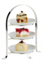3 TIER CHROME CAKE STAND FOR 6inch PLATES