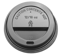 12 & 16OZ BLACK CPLA SIP THROUGH LID