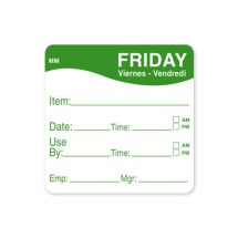 2inch REMOVABLE DAY OF THE WEEK LABEL - FRIDAY