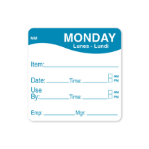 2inch REMOVABLE DAY OF THE WEEK LABEL - MONDAY