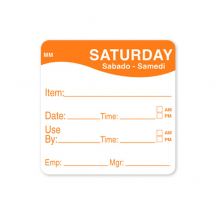 2inch REMOVABLE DAY OF THE WEEK LABEL SATURDAY