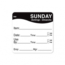 2inch REMOVABLE DAY OF THE WEEK LABEL - SUNDAY