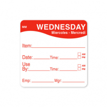 2inch REMOVABLE DAY OF THE WEEK LABEL - WEDNESDAY