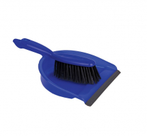 JANGRO DUSTPAN & BRUSH STIFF BLUE