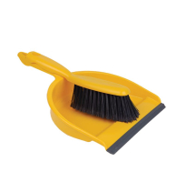 JANGRO DUSTPAN & BRUSH STIFF YELLOW