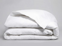 WHITE PERCALE 300 THREAD COUNT DOUBLE DUVET COVER