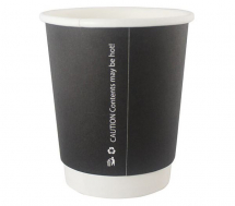 12OZ MATT DOUBLE WALL CUP BLACK, SMOOTH WALL