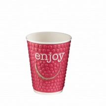 DW16 EMBOSSED ENJOY 16OZ CUP MIXED COLOURS