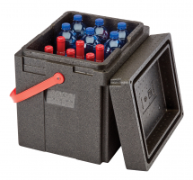 CAMBRO BEVERAGE CARRIER WITH RED STRAP 35L