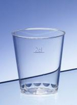 PLASTIC SHOT GLASS 2CL