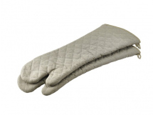 FLAMEGUARD OVEN MITT TAN 24inch CE MARKED (PAIR)