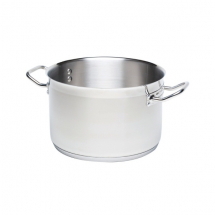 STAINLESS STEEL CASSEROLE PAN 12.9LTR 32CM DIA (NO LID)