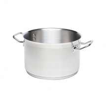 STAINLESS STEEL CASSEROLE PAN 22 LTR 36CM DIA (NO LID)