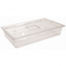 POLYCARBONATE 1/1 GASTRONORM CLEAR 100MM DEEP