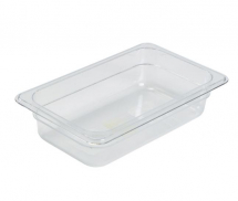 POLYCARBONATE CLEAR GASTRONORM PAN 1/4 100MM