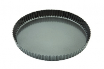 CARBON STEEL NON STICK QUICHE TIN FLUTED 29CM