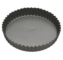 MASTERCLASS NON STICK FLUTED LOOSE ROUND BASE QUICHE TIN 30CM