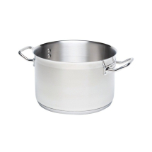 STAINLESS STEEL CASSEROLE PAN (NO LID) 8LTR 28CM DIA