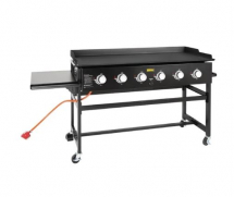 BUFFALO 6 BURNER LPG BARBECUE GRIDDLE 24KW 1270X520MM