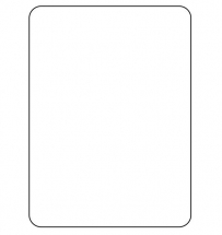 DURAMARK BLANK LABELS 56X76MM  X 750