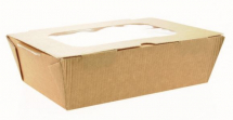 TASTE RANGE LARGE FOOD TO GO BOX WITH WINDOW & VENTS 185 X 125 X 60MM