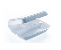 3 COMPARTMENT FOOD BOX  247 X1 98 X 75MM HINGED LID