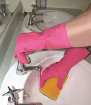 SINGLE PAIR OF PINK HOUSEHOLD GLOVES SMALL