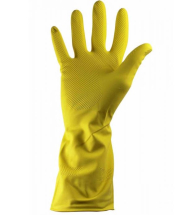 SINGLE PAIR OF HOUSEHOLD GLOVES YELLOW SMALL