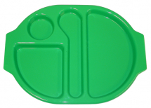 LARGE MEAL TRAY 38X28CM EMERALD GREEN