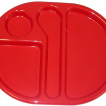 LARGE MEAL TRAY 38X28CM RED